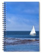 Sailing The Ocean Blue Spiral Notebook