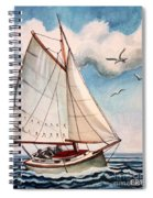 Sailing Through Open Waters Spiral Notebook