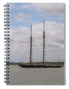 Sailing Under British Flag Spiral Notebook