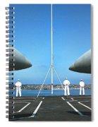 Sailors Aboard The Aircraft Carrier Uss Nimitz  Spiral Notebook