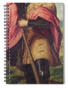 Saint Alexander A Panel From The Altarpiece The Nativity With Saints Spiral Notebook