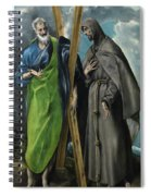 Saint Andrew And Saint Francis Spiral Notebook