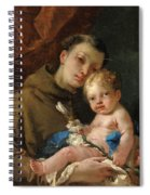Saint Anthony Of Padua And The Infant Christ Spiral Notebook