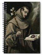 Saint Anthony Of Padua Spiral Notebook