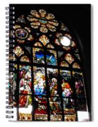 Saint Augustine Stained Glass Spiral Notebook
