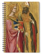 Saint Catherine And A Bishop Saint Possibly Saint Regulus Spiral Notebook