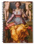 Saint Catherine Of Alexandria Crowned By Two Angels Spiral Notebook