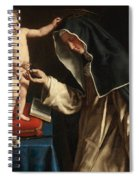 Saint Catherine Of Siena Receiving The Crown Of Thorns From The Christ Child Spiral Notebook