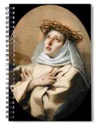 Saint Catherine Of Sienna Spiral Notebook