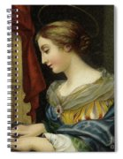 Saint Cecilia Playing The Organ Spiral Notebook