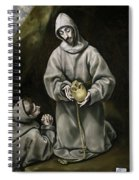 Saint Francis And Brother Leo Meditating On Death Spiral Notebook