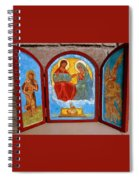 Saint Francis Tryptich Opened Spiral Notebook