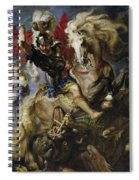 Saint George Battles The Dragon Spiral Notebook