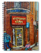 Saint Henri Street In Winter Spiral Notebook