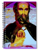 Saint Holding Medallion Spiral Notebook