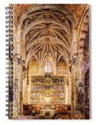 Saint Isidore - Romanesque Temple Altar And Vault - Vintage Version Spiral Notebook