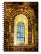 Saint Isidore - Romanesque Window With Stained Glass - Vintage Version Spiral Notebook