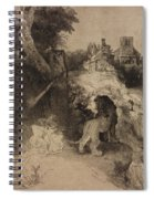 Saint Jerome In An Italian Landscape Spiral Notebook