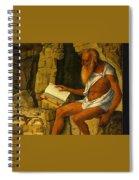 Saint Jerome Reading 1480-1490 Giovanni Bellini Spiral Notebook