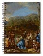 Saint John Baptizing In The River Jordan Spiral Notebook