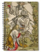 Saint John On The Island Of Patmos Receives Inspiration From God To Create The Apocalypse Spiral Notebook