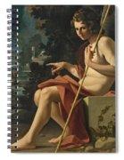 Saint John The Baptist In A Landscape Spiral Notebook