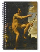 Saint John The Baptist In The Wilderness Spiral Notebook