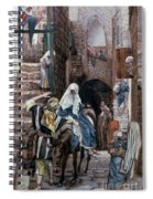 Saint Joseph Seeks Lodging In Bethlehem Spiral Notebook