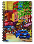 Saint Lawrence Street  Spiral Notebook