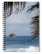 Saint Lucia Palm Tree Small Rock Caribbean Flowing Spiral Notebook