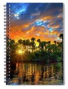 Saint Lucie River Sunset Spiral Notebook