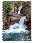 Saint Mary Falls - Glacier National Park Spiral Notebook