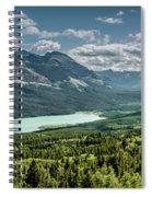 Saint Mary Lake Panorama Spiral Notebook