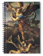 Saint Michael Overwhelming The Demon Spiral Notebook