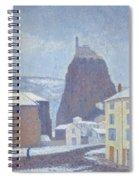 Saint Michel D Aiguilhe Haute Loire Under Snow 1890 Spiral Notebook