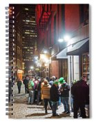 Saint Patrick's Day On Marshall Street Boston Ma Spiral Notebook