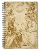 Saint Paul And Saint Stephen Crowned By Angels Spiral Notebook
