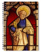 Saint Peter  Stained Glass Spiral Notebook