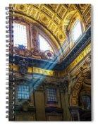 Saint Peter's Beams Of Light Spiral Notebook