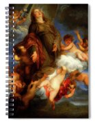 Saint Rosalie Interceding For The Plague Stricken Of Palermo     Spiral Notebook