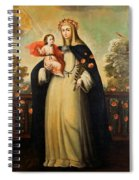 Saint Rose Of Lima With Child Jesus Spiral Notebook
