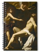 Saint Sebastian Succoured By The Angels Spiral Notebook