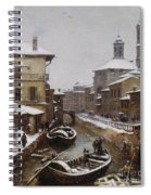 Saint Sophia Canal Covered In Snow Spiral Notebook