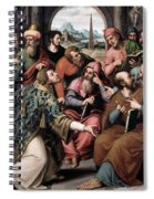 Saint Stephen In The Synagogue Spiral Notebook