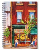 Saint Viateur Bagel Spiral Notebook