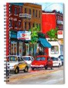 Saint Viateur Street Spiral Notebook