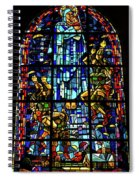 Sainte-mere-eglise Paratrooper Tribute Stained Glass Window Spiral Notebook