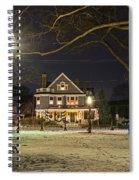 Salem Commons Winter Snow At Christmas Salem Ma Spiral Notebook