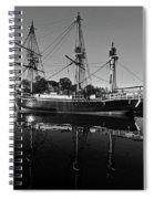 Salem Friendship Reflection Black And White Spiral Notebook