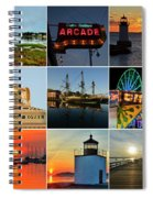 Salem Ma Nine Picture Collage Spiral Notebook